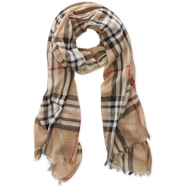 v fraas gauzy plaid scarf 48 liked on polyvore