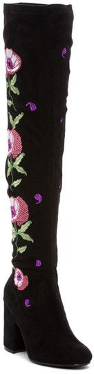 Carlos by Carlos Santana Quality Embroidered Over-the-Knee Boot