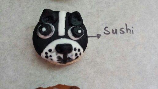 Macarrons nutella boston terrier