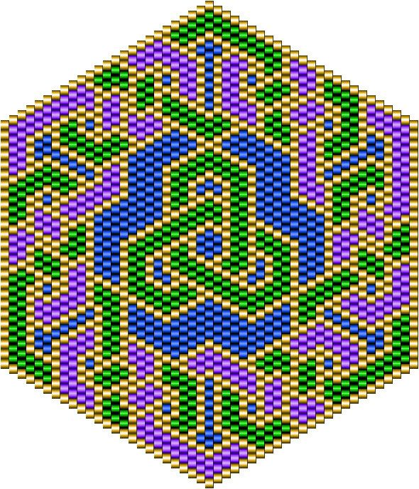 Graph paper for mandala type bead designs and a pattern for a knotwork design…
