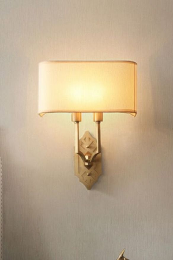 Baroque style wall light gold colour metal blown glass clear crystal drops