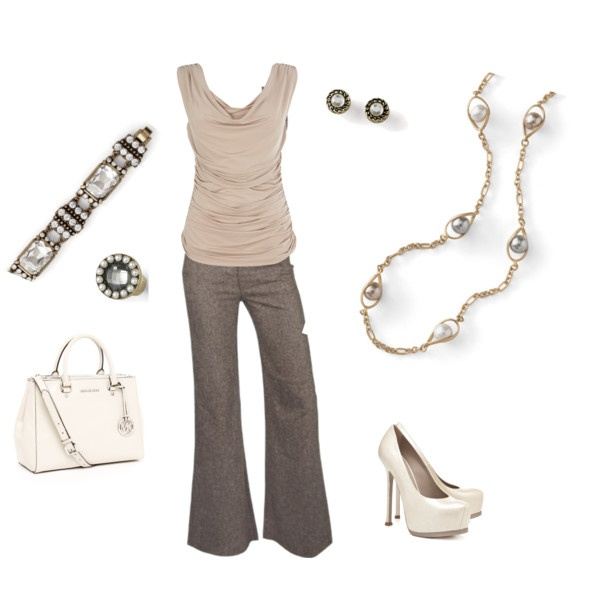 """Vintage Inspired"" by amy-bortz on Polyvore  Regalia Bracelet  Centerpiece Ring  Chained Earrings  Endeavor Necklace ~ Dress for Success piece  www.liasophia.com/amybortz"