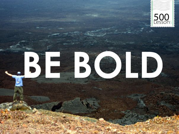 Bold is in relation to your normal, not a measurement against others.