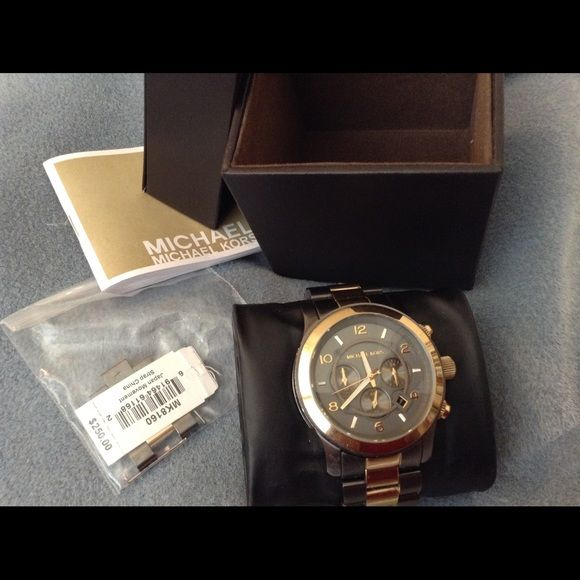 Michael korres 8160 Mens Watch, NWT This is A Gorgeous MK Men's 8160 Watch in Excellent Like New Condition, Links Removed But Included Really nice No scratches or damage !Thanks New Batter just placed ! MICHAEL Michael Kors Accessories Watches