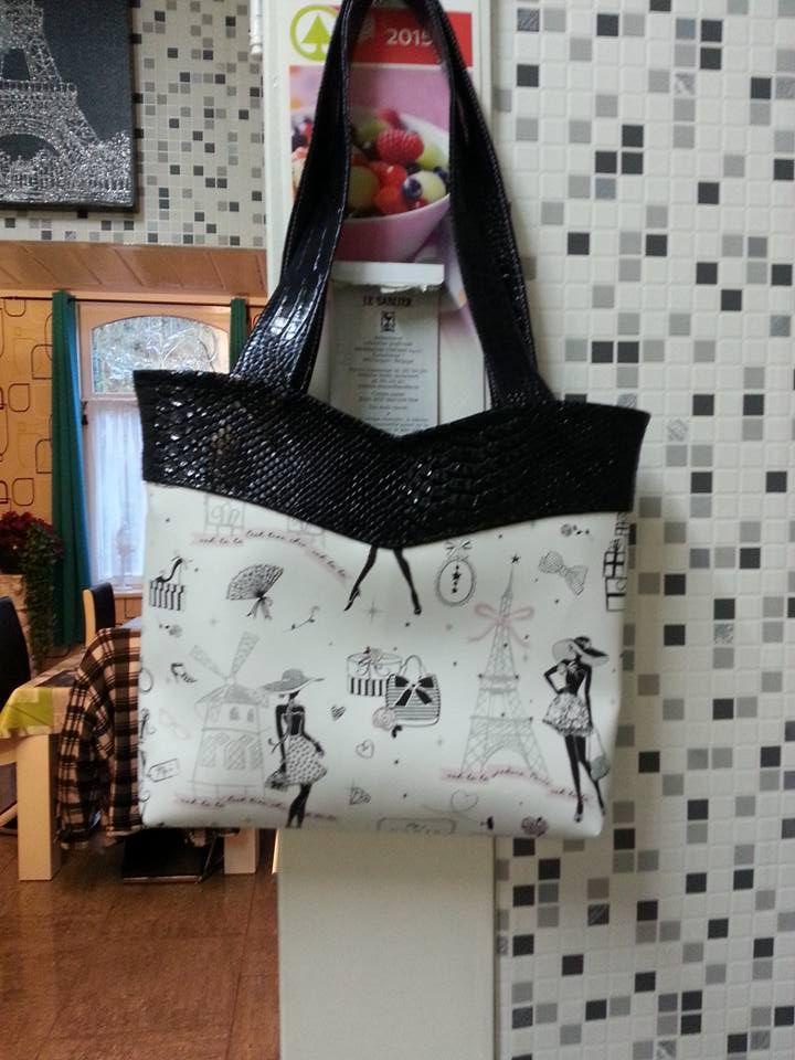 Le sac Annie cousu par Mireille - Patron de couture Sacôtin