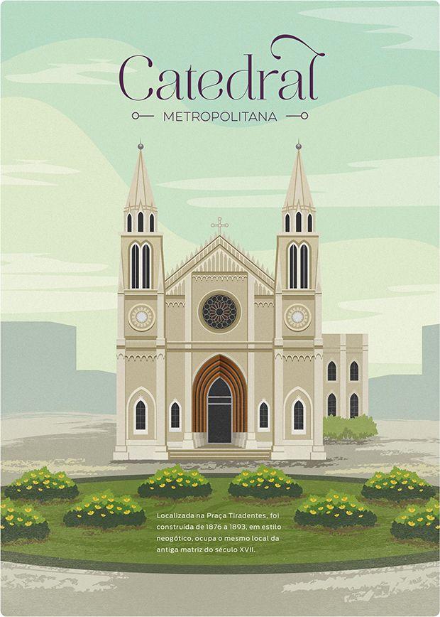O designer Maycon Prasniewski ilustrou alguns dos mais relevantes pontos turísticos de Curitiba para mostrar toda a diversidade da capital paranaense.