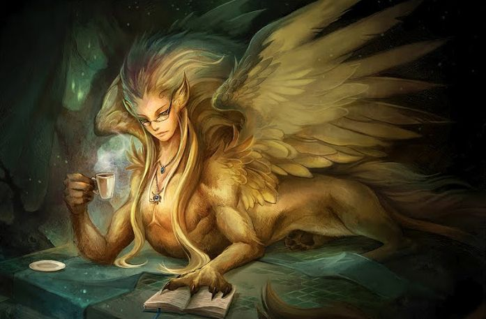 Sphinx has the head of a woman, the body of a lion and the wings of a bird and might be the sister to Chimera and Cerberus.