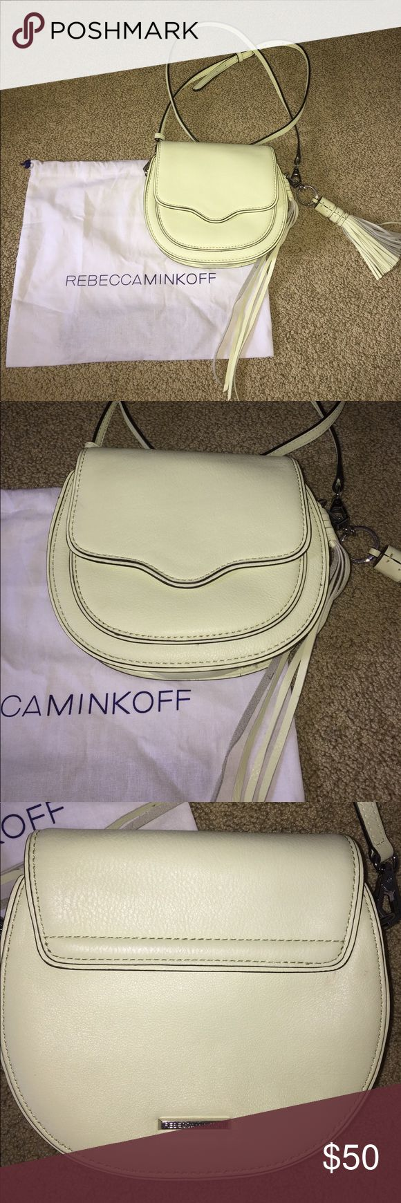 Rebecca Minkoff purse A yellowish/green Rebecca Minkoff! Love love love this purse, but personally, the color is just not for me. It's brand new! Rebecca Minkoff Bags Mini Bags