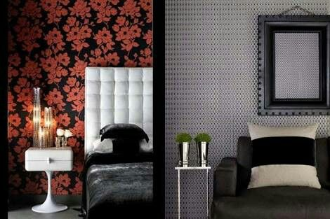 A different wall covering can change your mood ROMANTIC to SOBER...