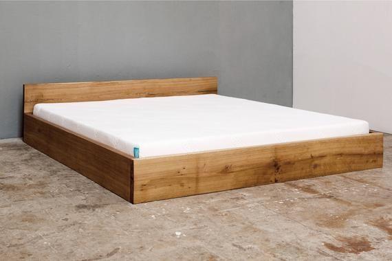 Woodboom I Bett Stehend Aus Eiche Simple Bed Bed Oak