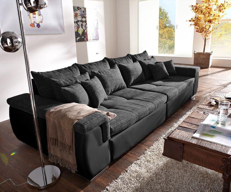 Perfect Sofa Navin 275x116 Cm Schwarz Couch Mit 12 Kissen Ideas