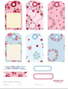 Free printable download of shabby chic elements and tags available for your papercrafting use. Free for personal non-commercial use only.