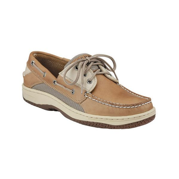 Men's Sperry Top-Sider Billfish 3-Eye Boat Shoe ($100) ❤ liked on Polyvore featuring men's fashion, men's shoes, men's loafers, casual, moc toe shoes, mens waterproof shoes, mens sperry topsiders, mens moccasins, mens slipon shoes and mens deck shoes