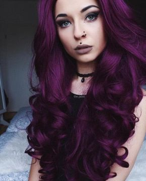 Dark Purple Big Wave Synthetic Lace Front Wig – FashionLoveHunter