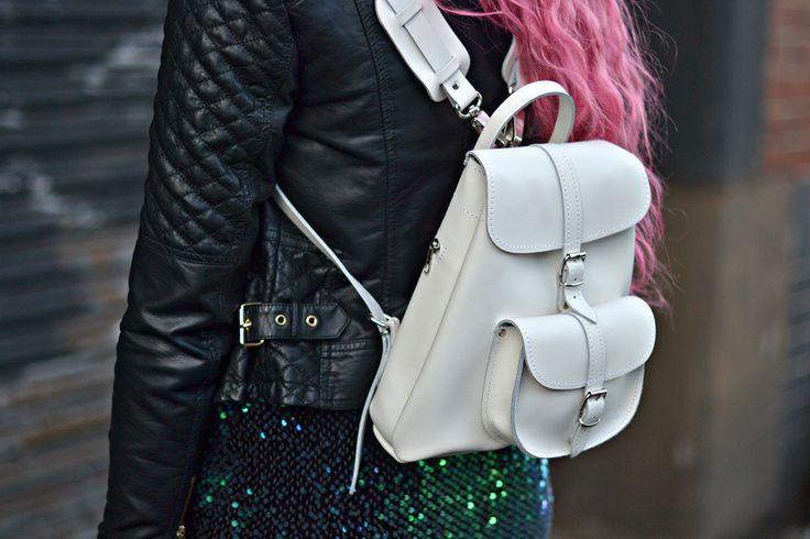 Stephi LaReine// UK Fashion, Lifestyle, Beauty, Blogger: Photoshoot with baby white Grafea backpack, Gabby Motel Dress, Pink hair, manchester