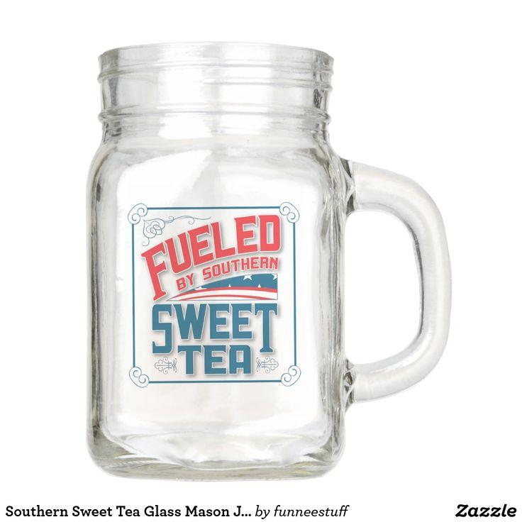 Southern Sweet Tea Glass Mason Jar with handle