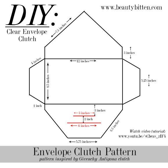 Diy Clear Envelope Clutch Beautybitten A Personal Style Beauty Blog Envelope Clutch Pattern Clutch Pattern Envelope Clutch