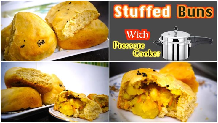 Stuffed Buns in Pressure Cooker |  Buns Without Oven
