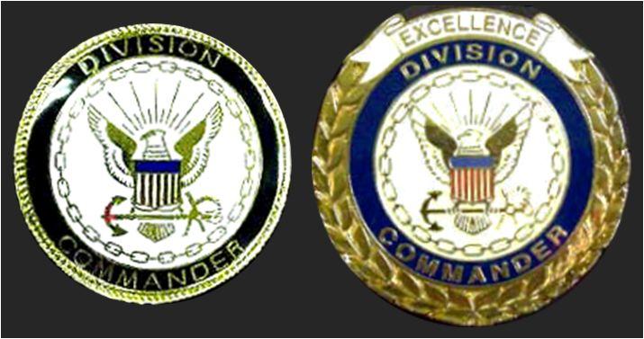 Recruit Division Commander Badges