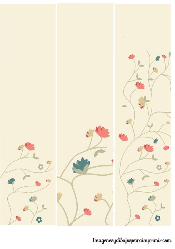 Marcapaginas con flores para imprimir-Imagenes y dibujos para imprimir