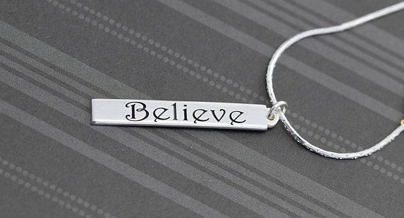 Believe name necklace, Name Bar Necklace, Vertical #jewelry #necklace @EtsyMktgTool #believe #namenecklace #namebarnecklace #verticalbar