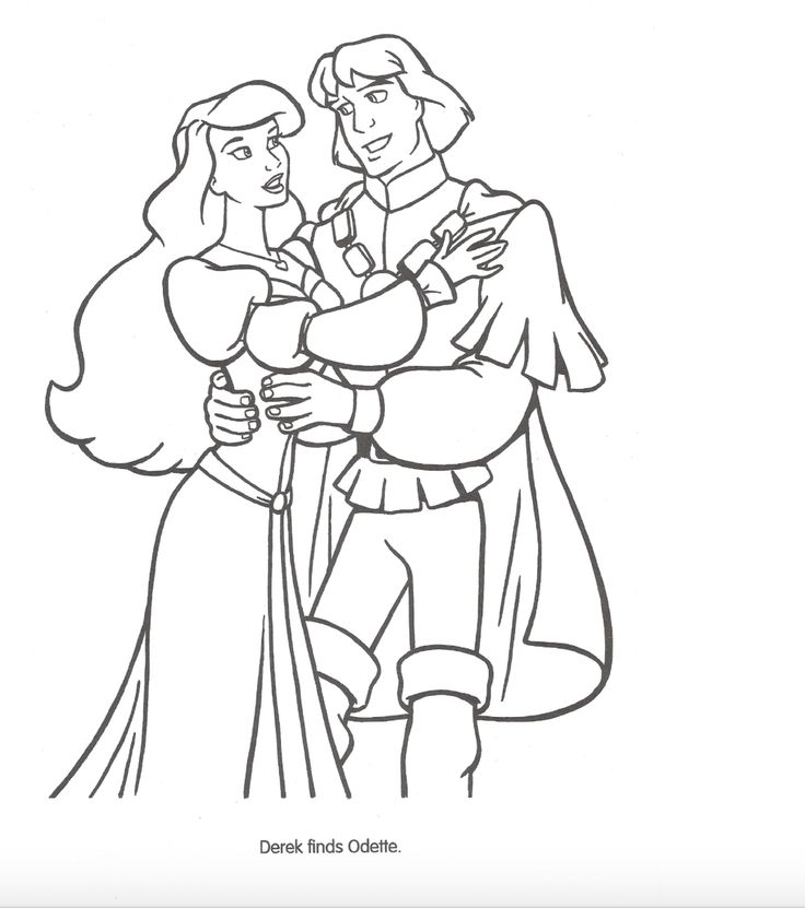 odette and derek coloring pages - photo#4