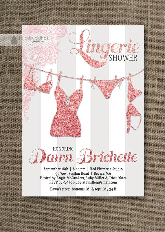 28 best digibuddha lingerie shower invitations images on pinterest, Party invitations