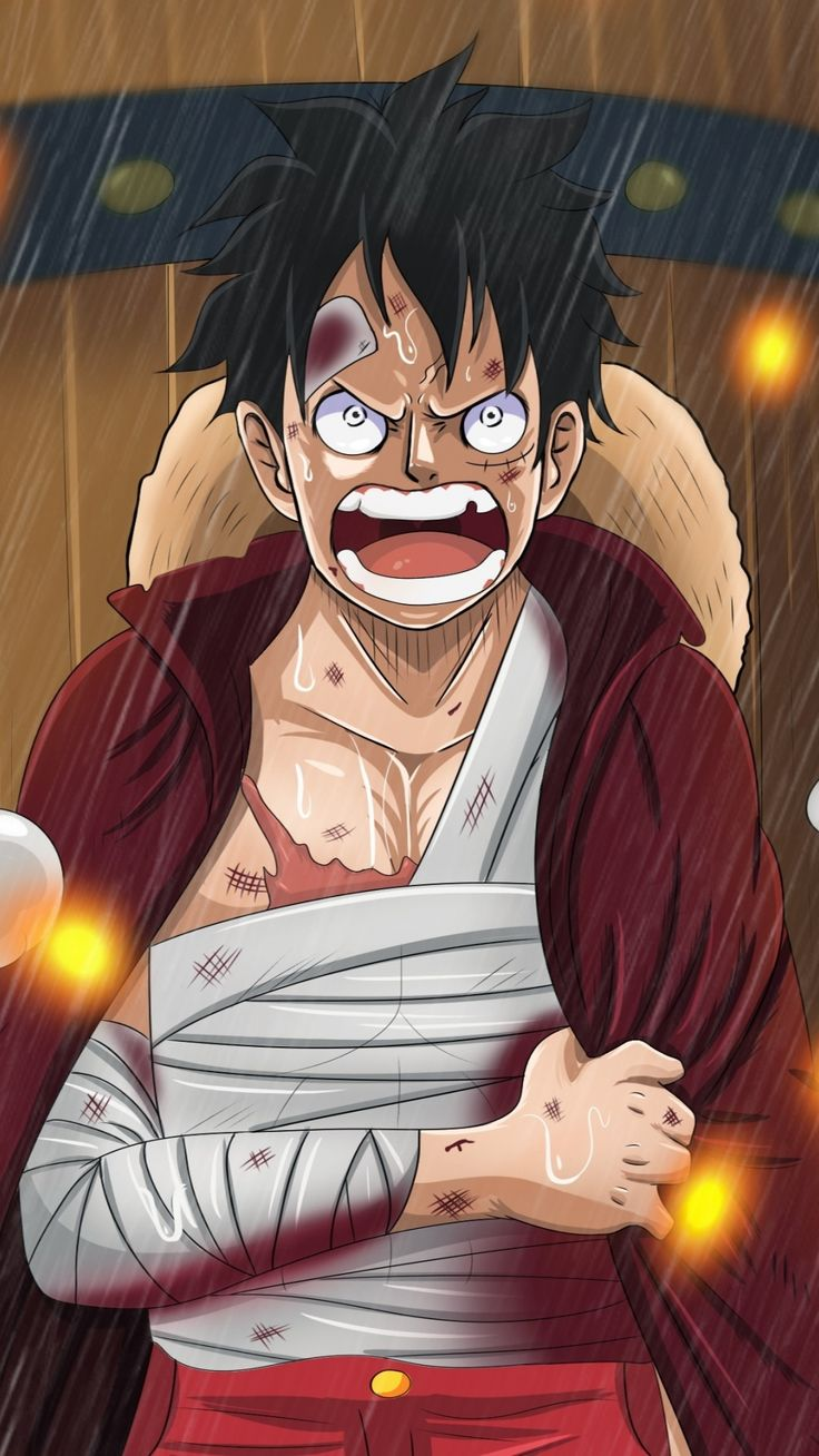 Monkey D. Luffy, angry, One Piece, anime, 1080x1920