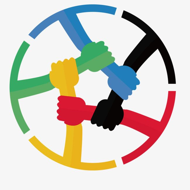 Teamwork Design And Round Color Round Cooperation Png