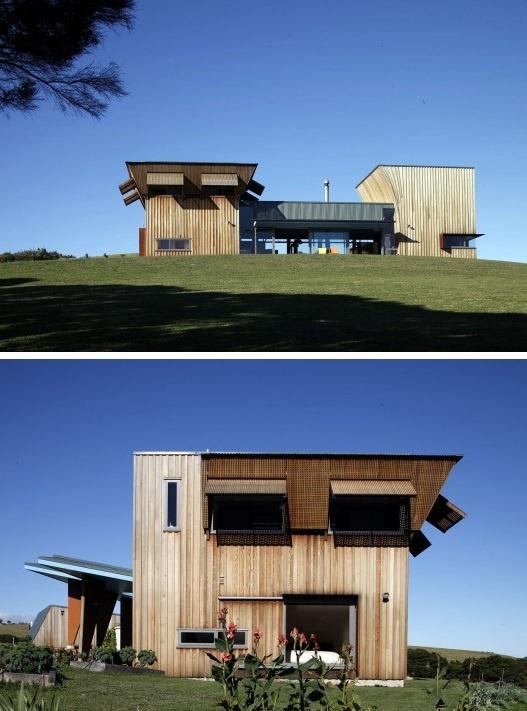 NEW ZEALAND. Cable Bay, Waiheke Island. Architects: Mitchell and Stout Architects. Project Name: Waiheke Island House, 2007. www.mitchellstoutarchitects.co.nz