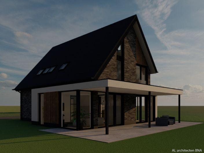Strakke Vrijstaande Woning Met Asymmetrische Kapvorm Al Architecten Nieuwbouw Architecten Architectuur Ontwerp
