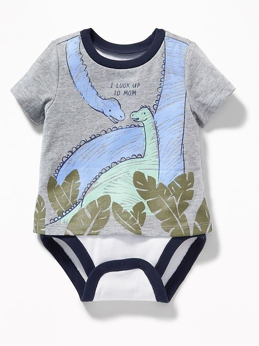 1d914bc70 2-in-1 Dino-Graphic Bodysuit for Baby | kids | Pinterest | Baby ...