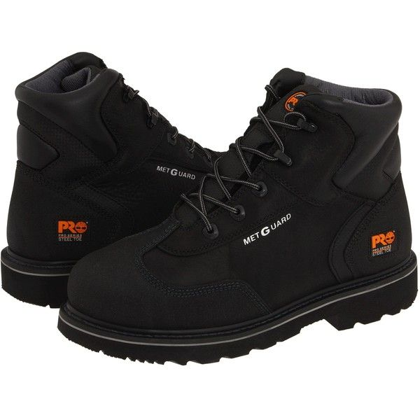 Timberland PRO 6 Internal Met Guard Steel Toe (Black Full-Grain Oiled... ($109) ❤ liked on Polyvore featuring men's fashion, men's shoes, men's boots, men's work boots, black, mens work boots, mens lace up boots, mens steel toe boots, mens black work boots and mens black lace up boots