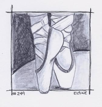 """Ballet Shoes"" By Artist Elaine Butler Day 249"