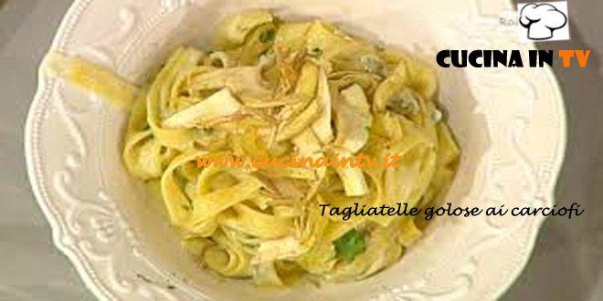 Tagliatelle golose ai carciofi ricetta Barzetti La Prova del Cuoco | Cucina in tv