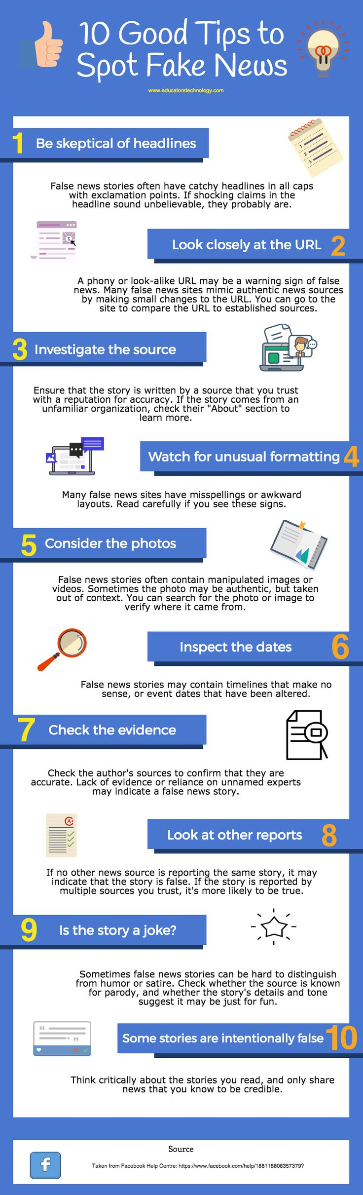 10 Good Tips To Spot Fake News - are you teaching students about fake news?