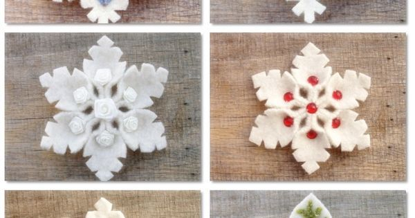 Felt Snowflake I love winter. Love~it! | Christmas | Pinterest | Snowflakes, Felt and Step By Step