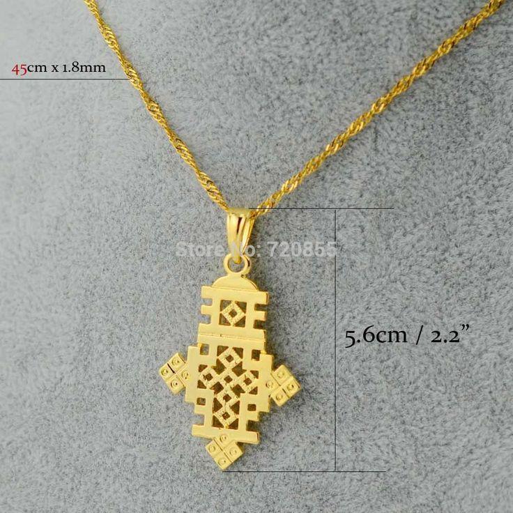 Эфиопский Крест золото ювелирные изделия кулон и цепочка эритрея африканских подарки на крестины, оптовая цена завода