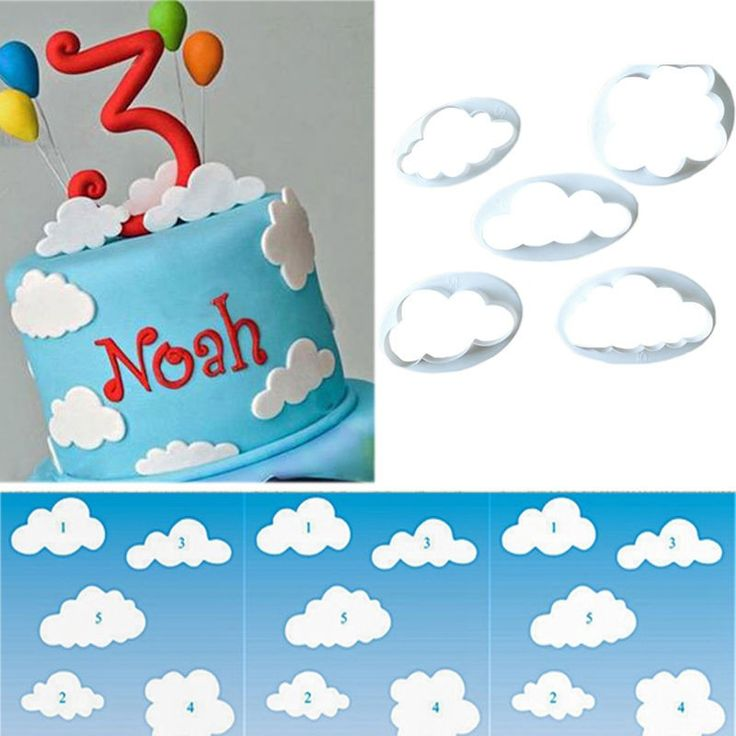 5 יח'\סט ענן יצק מחתכים עוגה/עוגיות/Buscuit חותך עובש Sugarcraft כלים יצקו כלים לקשט עוגת משלוח חינם 1533