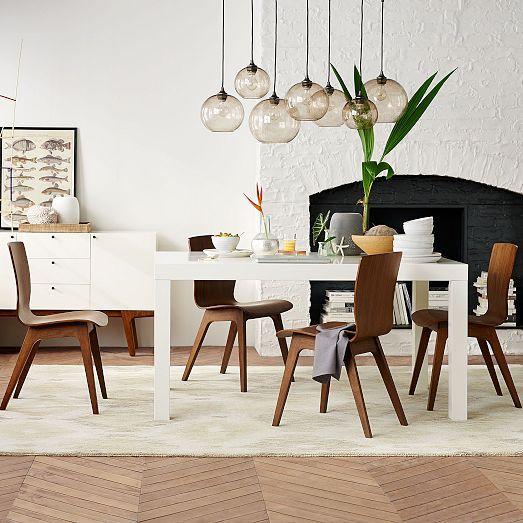 west elm parsons expandable dining table crest bentwood chair square reviews