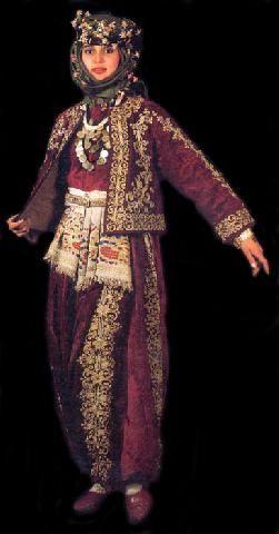 Diğer Köylerin Yöresel Kıyafetleri, İllerin Yöresel Kıyafetleri, - Göktepe Köyü Web Sitesi