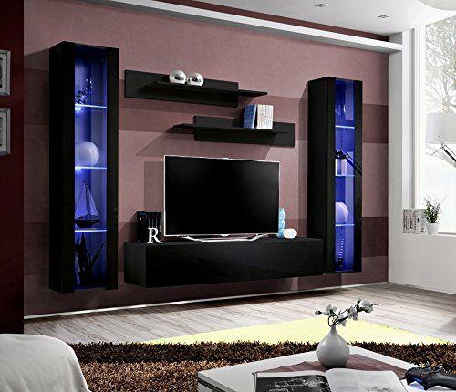 Die besten 25+ Wohnwand schwarz hochglanz Ideen auf Pinterest - fernsehwand ideen moebel wohnzimmer