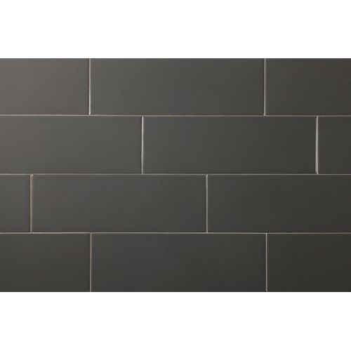 Manhattan 4 Quot X 12 Quot Charcoal Glossy Subway Tile Grey