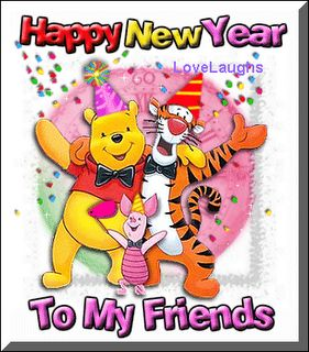 happy new year by winnie the pooh