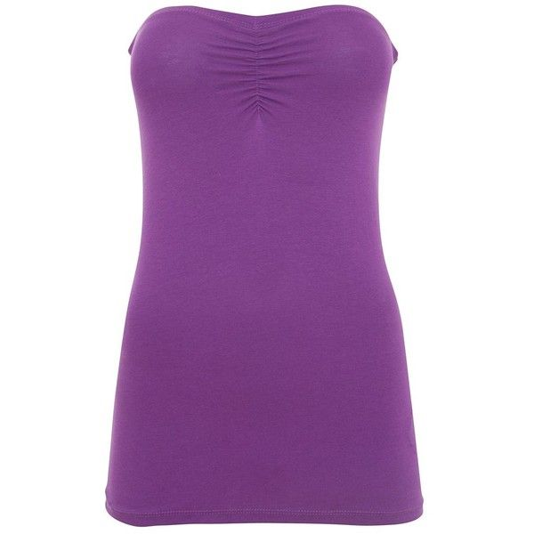 Purple Tube Top (22 QAR) ❤ liked on Polyvore featuring tops, shirts, purple, strapless, purple strapless shirt, strapless top, purple top, strapless tube top and shirts & tops