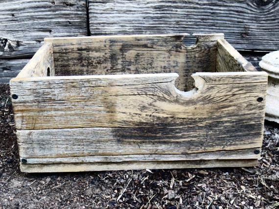 Wood Crate, Wood Crates, Wooden Crate, Reclaimed Wood Crate, Rustic Crate, Old Crate, Small Wood Crate, Wood Crate Box, Storage Crate, Crate