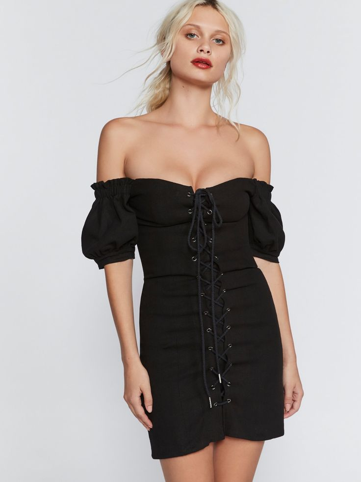 Stone Cold Fox Pamela Lace-Up Bodycon at Free People Clothing Boutique