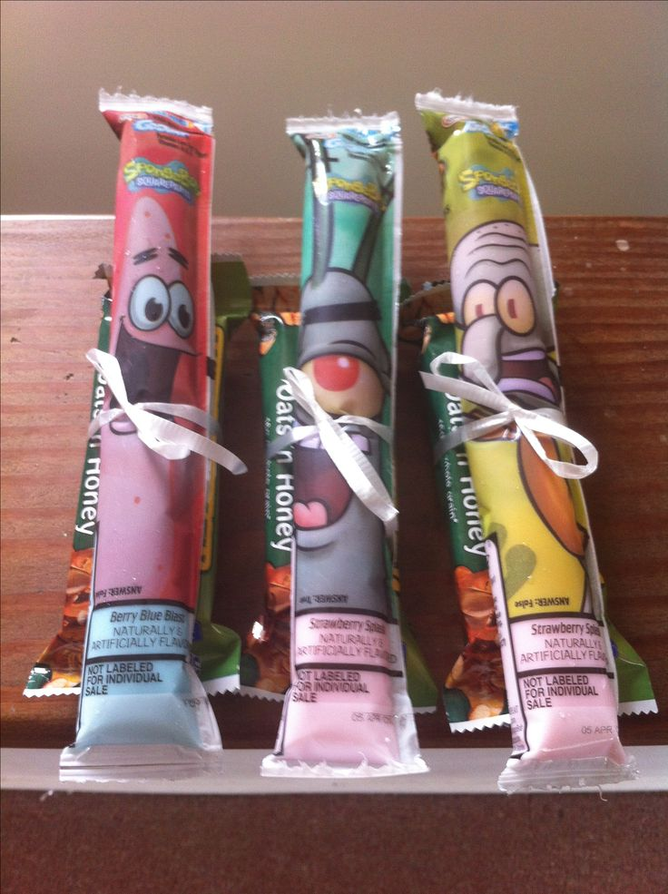 Healthy Birthday School treats #granolabars #gogurt