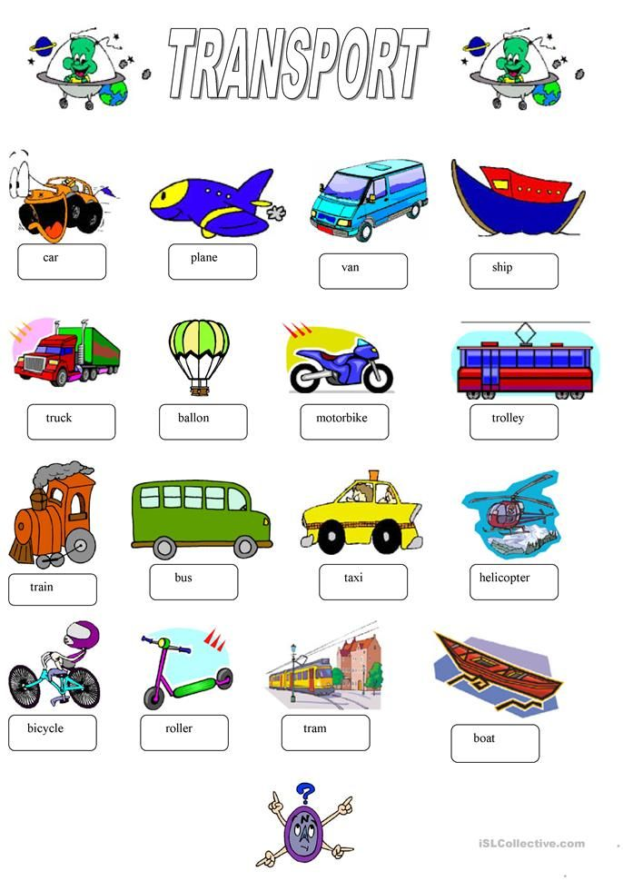 Transport Education 1 English Teaching Resources