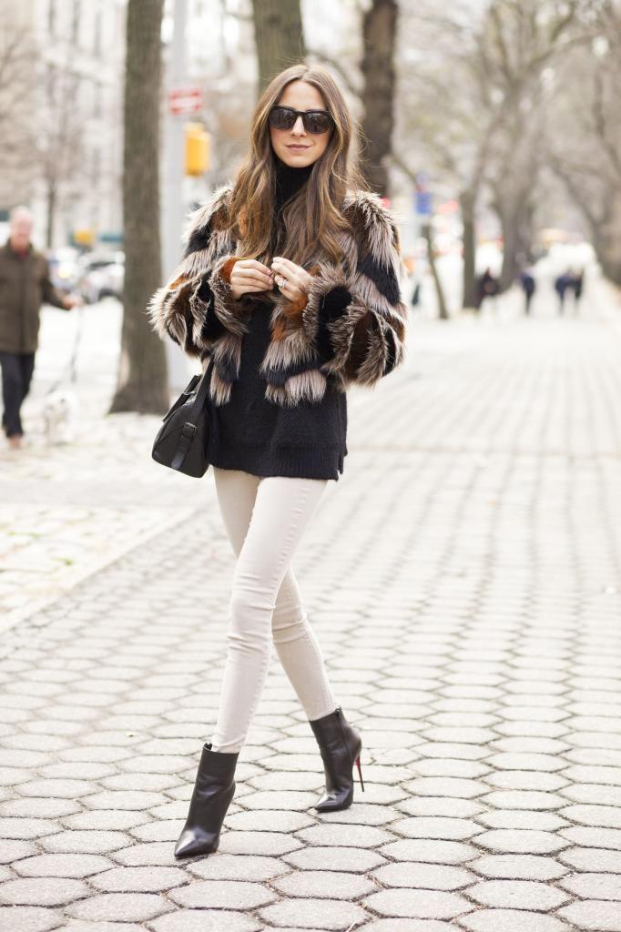 Shoes: Christian Louboutin | Jeans: J Brand | Sweater: Vanessa Bruno | Coat: Cynthia Vincent | Bag: Reece Hudson | Sunnies: Wildfox | Lipstick: Bobbi Brown